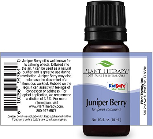 Plant Therapy Juniper Berry Essential Oil. 100% Pure, Undiluted, Therapeutic Grade. 10 ml (1/3 oz). - incensecentral.us
