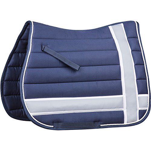 Used, Roma Line Quilt All Purpose Saddle Pad One Size Navy for sale  Delivered anywhere in USA