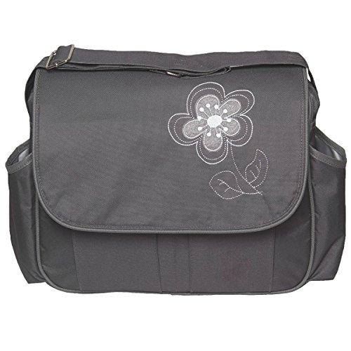 Wickeltasche VIOLA + Wickelauflage Pflegetasche Windel Baby Tasche Kinderwagen Buggy in 3 verschiedenen Farben (Grau)