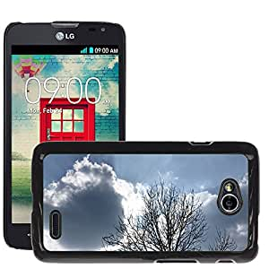 Hot Style Cell Phone PC Hard Case Cover // M00307218 Nature Branches Clearances Clouds // LG Optimus L70 MS323