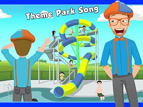 The Theme Park Song by Blippi - Amusement Park for Children