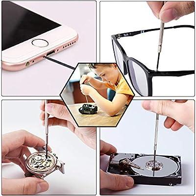Mini Screwdriver Set Precision Screwdriver for Kids Toys, Game Controllers, Electronics, Eyeglass Portable Repair Tool: Home Improvement
