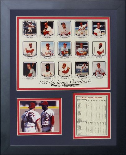 Legends Never Die 1967 St. Louis Cardinals Framed Photo Collage, 11x14-Inch