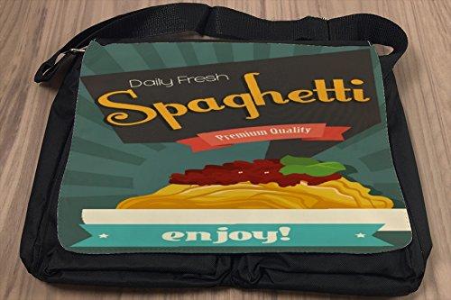 Borsa Tracolla Retro Spaghetti Stampato