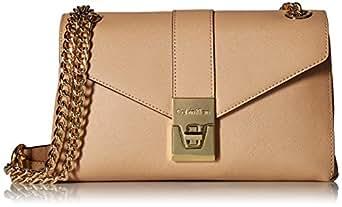 Calvin Klein Alexis Saffiano Shoulder Bag, Nude