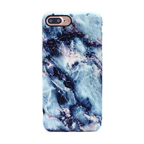 GOLINK iPhone 7 Plus Case/iPhone 8 Plus Marble Case, MATTE Marble Series Slim-Fit Anti-Scratch Shock Proof Anti-Finger Print Flexible TPU Gel Case For iPhone 7/8 Plus - Blue Marble