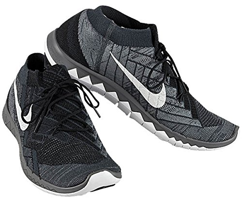 NIKE Men's Free 3.0 Flyknit, Black/White-Anthracite-Dark Grey, 7 M US