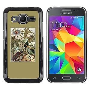 """Pulsar Snap-on Series Teléfono Carcasa Funda Case Caso para Samsung Galaxy Core Prime / SM-G360 , Oro floral Campo Flores de verano"""""""