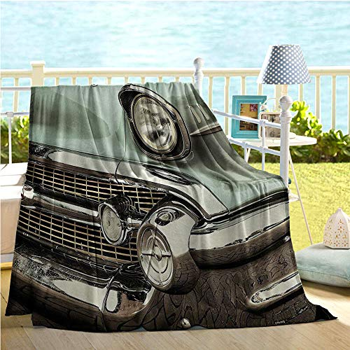 1950s Decor Collection Soft Blanket,Retro Style Image for sale  Delivered anywhere in Canada