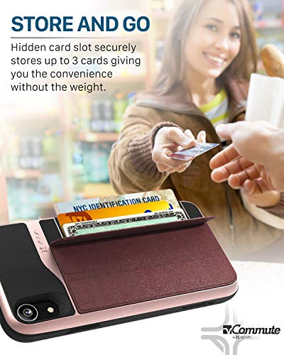 Vena iPhone XR Wallet Case, vCommute (Military Grade Drop Protection) Flip Leather Cover Card Slot Holder with Kickstand…