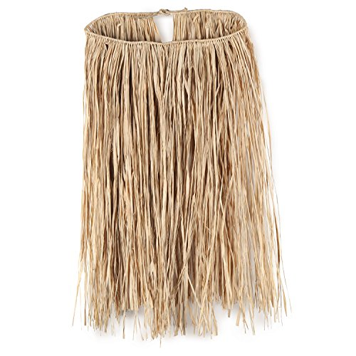 Adult Raffia Hula Skirt (natural) Party Accessory  (1 count) (1/Pkg) (Raffia Hula Skirt)