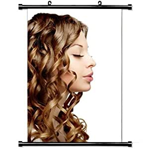 Girly Wall Posters,Girl Woman White Hair Stylish and Custom Wall Scroll Poster Fabric Painting 23.6 X 35.4 Inch (60cm X 90 cm)
