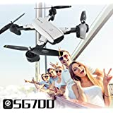 Hot Sale Drone,SG-700 Helicopter Quadcopter 2.4Ghz 4 CH 360° Hold WiFi 2.0MP Optical Flow Dual Camera For Kids Adults Beginners - Headless Mode, 3D Flip