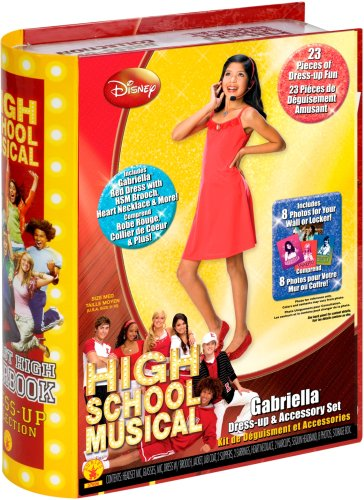 [Rubies High School Musical Yearbook Collection Gabriella Dress-Up and Accessory Set, Size 8 to 10] (Hsm Costumes)