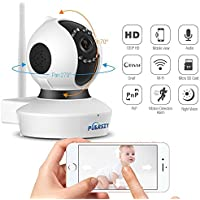 Home Security Camera Monitor System,Night Vision,720P Wireless IP Video Surveillance Camera For Home/Business Wifi Security Camera with 2-way Audio,Baby Monitor,Nanny/Pet Cam,HD by Puersit