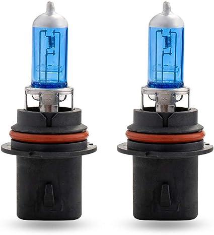 White 9007 HB5 100//80W 5000K Two Bulbs Head Light High Watt Replace High Low OE