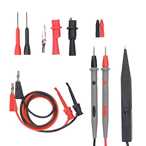 Test Probe Set - Electrical Multimeter Test Leads Set with Alligator Clips Test Hook Test Probes Lead Professional Kit 1000V 20A CAT.II