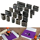 Yosoo 39 Shape Style Leather Craft Set One Hole Hollow Punch Cutter Tool Handmade DIY
