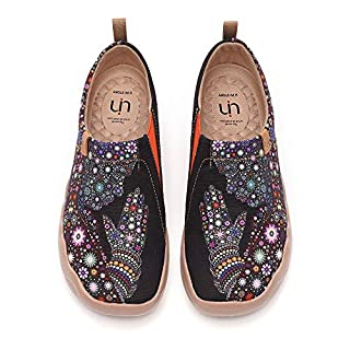 UIN Women's Slip ons Travel Shoes Casual Painted Canvas Walking Flats Pray for Goodness (39)