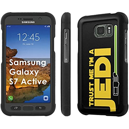 AT&T [Galaxy S7 Active][5.2 Screen] Phone Case [SlickCandy] [Black] Hard Protector Snap Designer Shell Case - [Trust Me I am A Jedi] for Samsung Galaxy Sales