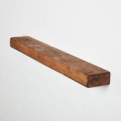 Pipe Dream Furniture Estante Flotante de Madera Maciza de 6 x 3 Muebles rústicos, Medium Oak, 110 cm