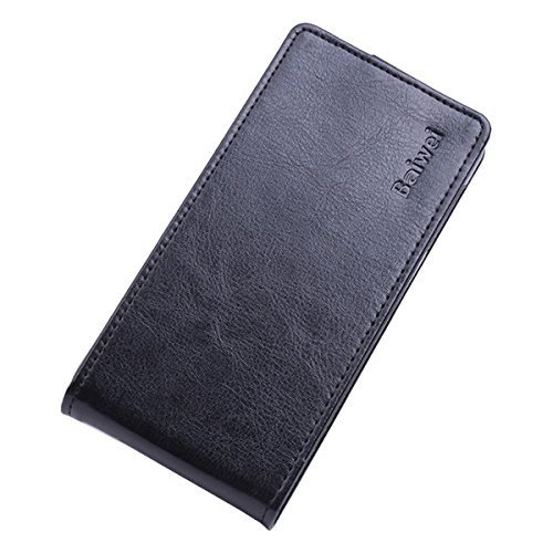 Exinnos Flip Up and Down PU Leather Protective Case for Elephone P8000 - (Color: Black)