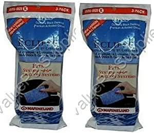 Marineland 6-Pack Rite Eclipse 6-Level Water Filter Cartridge, Size K