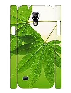 Modern Anti Shock Leaf Picture Series Hard Plastic Case Cover for Samsung Galaxy S4 Mini I9195 Case