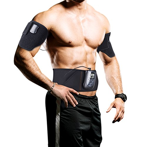 Electric Ab Belt for Women and Men - Effective Muscle Stimulator and Toner for Abs, Arms, Legs - Stimulation Belt Uses Bioelectrical Magnetic Waves and Chinese Acupuncture for Best Results