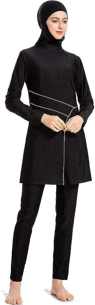 CaptainSwim Neue Muslimische Badebekleidung f/ür Frauen M/ädchen Vollst/ändige Abdeckung Burkini Badeanzug Set Islamischer Hijab Bescheiden Strandkleidung Schwimmen Passen Kost/üm