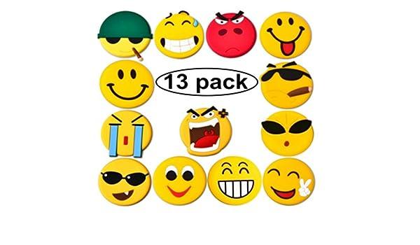 Emoji imanes de nevera, juego de 13 fuerte imanes para nevera para ...