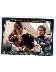 Princess Leia Organa kisses Luke Skywalker trading card 2007 Topps Star Wars 30 #20 Han Solo Chewbacca Empire Strikes Back