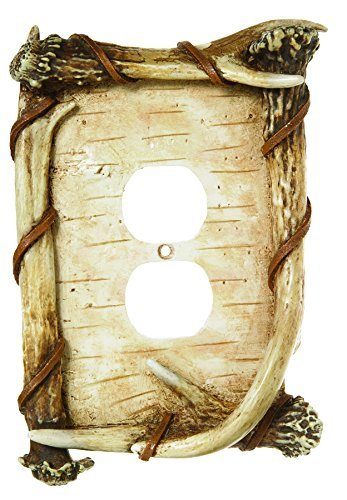 Big Sky Carvers 30170246 Birch Antler Outlet Cover by Big Sky Carvers