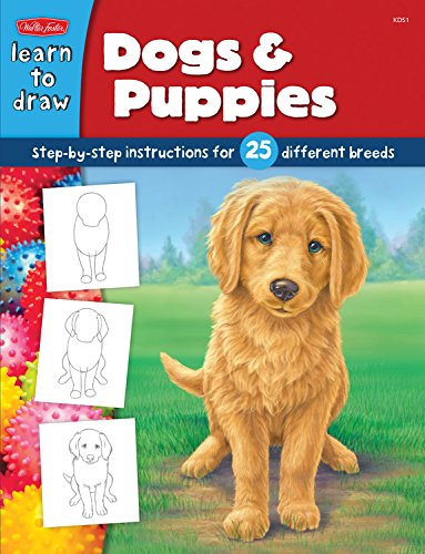 Download Dogs & Puppies: Step-by-step instructions for 25 different dog breeds (Learn to Draw) pdf