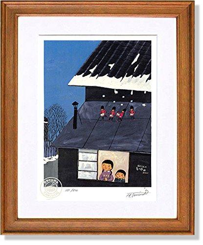 絵画 版画 谷内六郎雨だれの春の序曲 インテリア B079BGBHGB