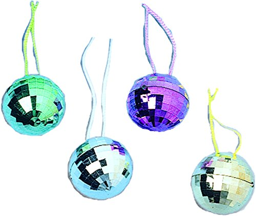 [Disco Ball Necklaces (1 Dozen) - Bulk] (70s And 80s Party Costumes)