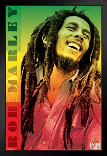 Pyramid America Bob Marley Reggae Color Framed Poster 14x20 inch