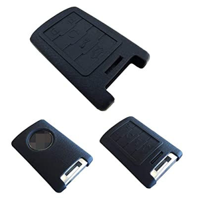 iJDMTOY Soft Silicone Remote Smart Key Holder Fob Compatible with Cadillac Escalade ATS CTS DTS XTS SRX or Chevy C7 Corvette, etc: Automotive