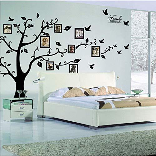 Kibi Wandtattoo Baum PVC Riesig Schwarz Bilderrahmen Speicher Baum Vine Zweig Abnehmbare Wandtattoo Sticker Wandtattoo Baum Familie Wandtattoo Baum Fotorahmen