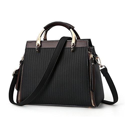 GWQGZ New Fashion Single Shoulder Slanted Span Simple Atmosphere Handbag Black
