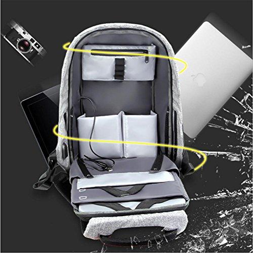 Puerto SLR de con Mochila Carga Impermeable portátil Ligero Grey Ultra cámara Mochila Multifuncional Mochila Cámara USB de PLYY O7HK5wqvp