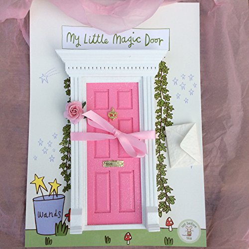Fairy Door - Best Vintage Rose Bubblegum Pink Magic Door and Ladder Set for Kids Room Perfect for Bringing Fun, Adventure and Magic to Your Home by Magical Little World (Image #2)