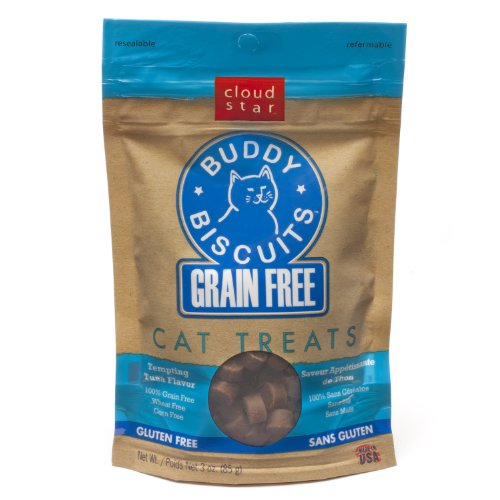 Cloud Star Grain Free Buddy Biscuits for Cats, Tempting Tuna, 3 Ounce, My Pet Supplies