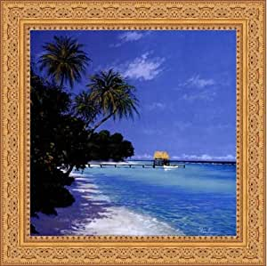 framed tropical paradise ii 12x12 inches art print ornate gold frame posters. Black Bedroom Furniture Sets. Home Design Ideas