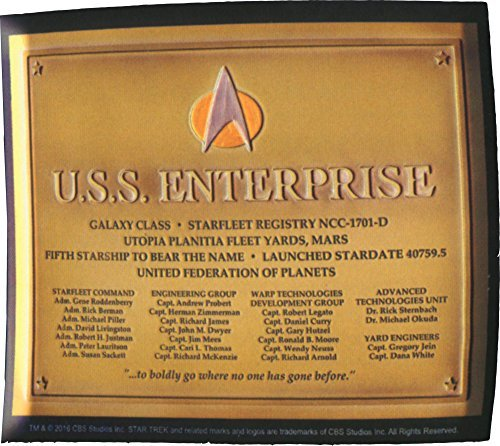 LootCrate July 2016 Exclusive Star Trek U.S.S. Enterprise Dedication Plaque Replcia - Stores Outlet Nyc