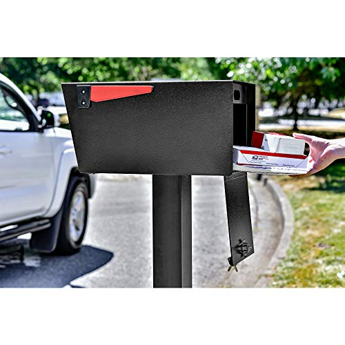Mail Boss 7526 Mail Manager Street Safe Locking Security Mailbox, Black by Mail Boss (Image #7)