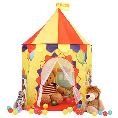Springbuds Circus Play Tent for Kids, Pop Up Children Play Tent for Boys and Girls, Portable Playhouse for Indoor&Outdoor Use by Springbuds