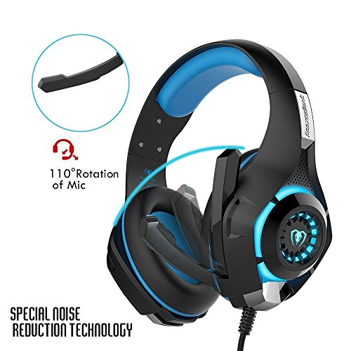 51Cl98aB0 L - Gaming Headset, RedHoney Stereo PS4 LED Gaming Headphone With Microphone for PS4 PSP Xbox one PC Tablet iPhone iPad Samsung Smartphone