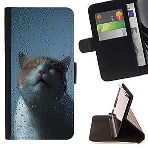 King Case - FOR Apple Iphone 4 / 4S - Proud of my heart - Prima caja de la PU billetera de cuero con ranuras para tarjetas, efectivo Compartimiento desmontable y correa para la mu?eca