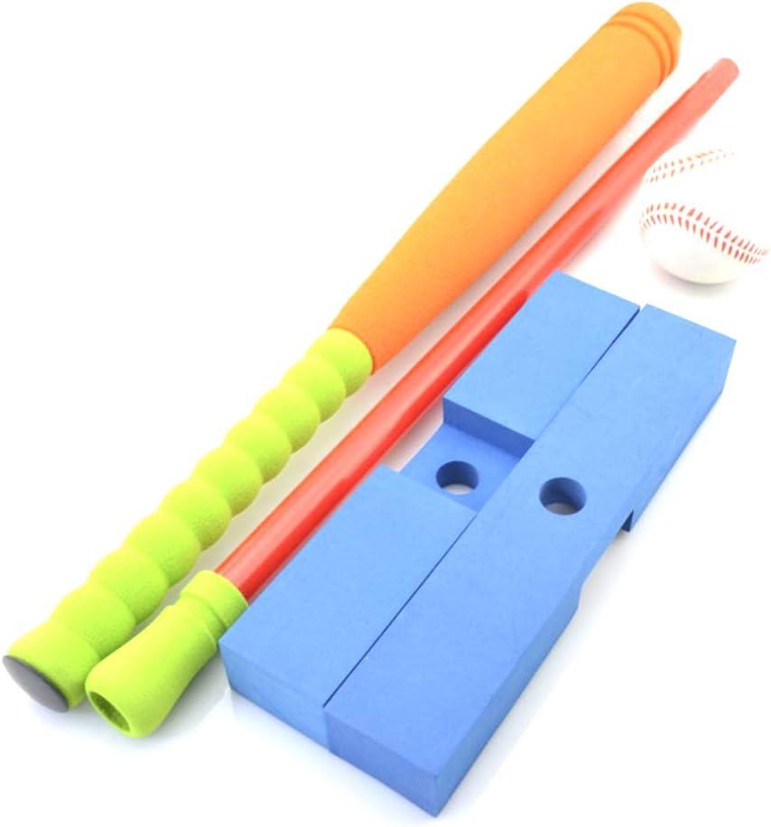 orange, gr/ün NUOBESTY 3 st/ücke Kinder Baseball Training kit Gummi Material Outdoor Sport lernspielzeug EIN baseballschl/äger EIN sockel f/ür Kinder